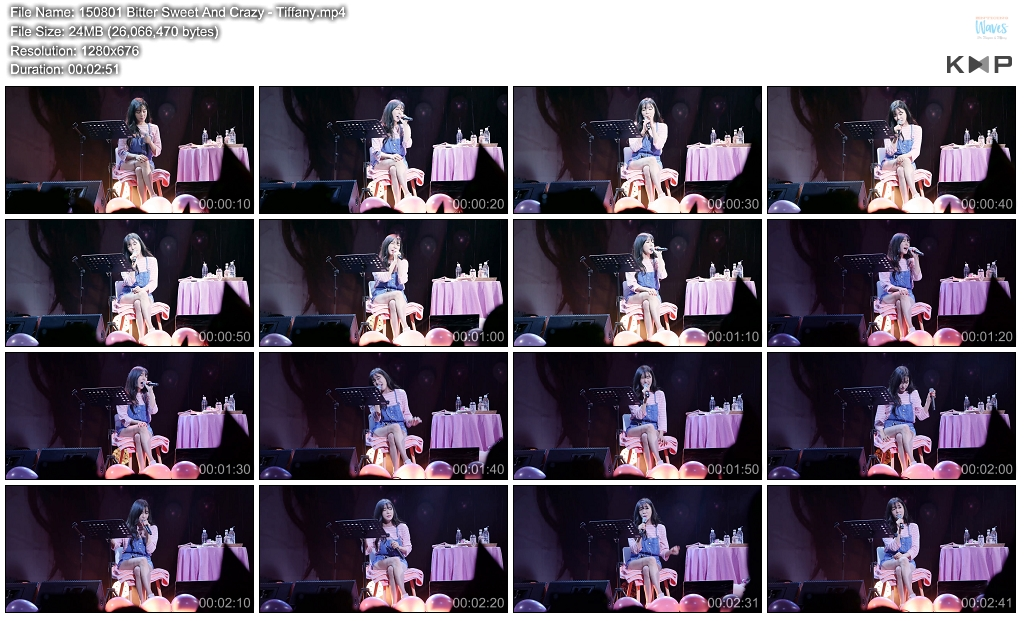 [DL FANCAM] [150801] TIFFANY – Bitter Sweet And Crazy
