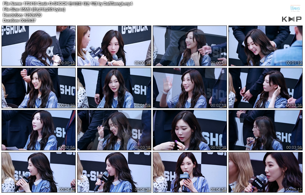 [DL FANCAM] [170416] TAEYEON + TIFFANY @ CASIO G-SHOCK FANSIGN